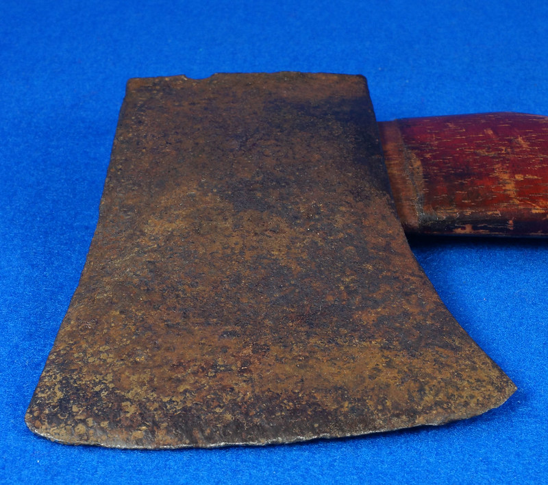 RD15554 Vintage 19 inch Camp Axe or Hatchet with Wood Handle Marked Commander Hickory DSC09421