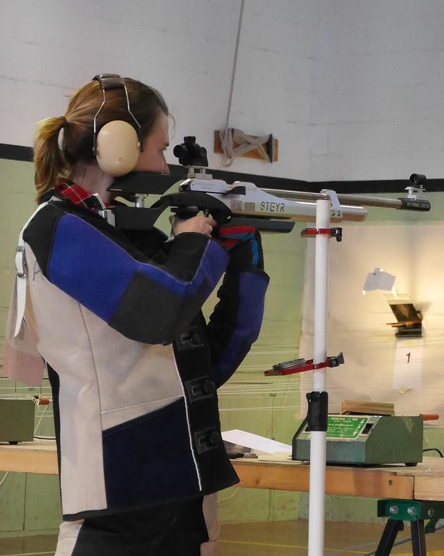 Heather shooting air rifle