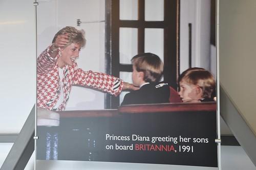 Princess Diana greeting her sons