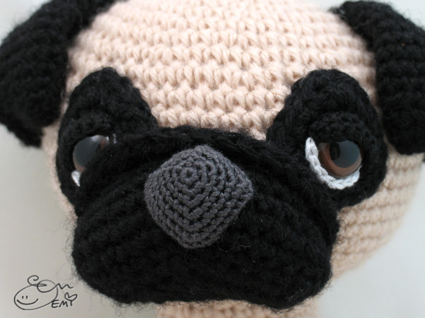 Needlecrafts & Yarn Crocheting & Knitting PDF Pug Pattern PDF ... | 450x600