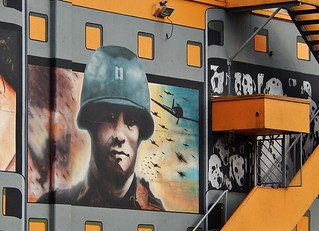 Soldier on Cinema Wall | by mikecogh