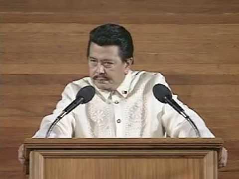 President Estrada's 1st SONA