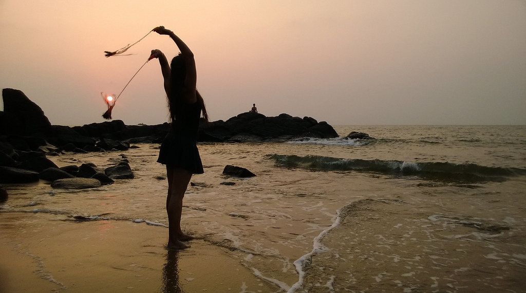 a traveller in Kudle beach