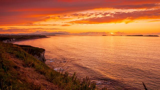 Sunset at White Rocks Portrush