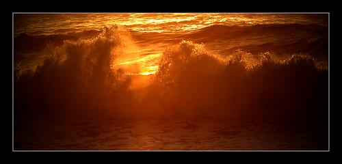 sunset sundown dusk evening beach water surf wave foam splash marina california usa