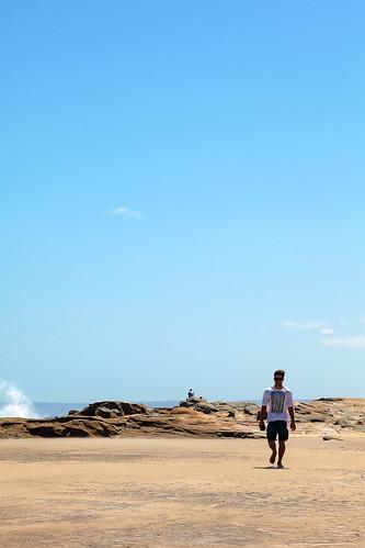 world people way sand rocks long waves walk dream walker turist
