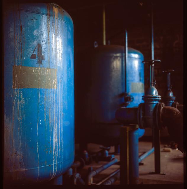 Usine chimique désaffectée
