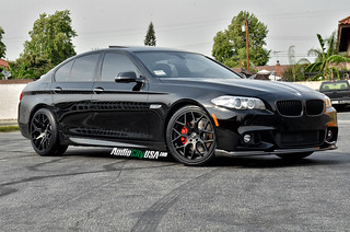 "20"" Gianelle Puerto matte black on 2013 BMW 535 i 
