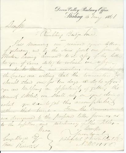 Devon Valley Railway Letterhead 1861 | by ian.dinmore