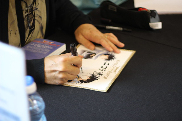 Dédicace de Kamui Fujiwara - Dragon Quest (Ki-oon) à Japan Expo 2014