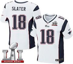 Nike Patriots #18 Matt Slater White Super Bowl LI 51 Men's Stitched NFL Elite Jersey