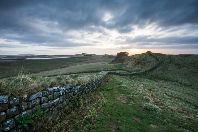 Cuddy's Crags view of Hadrian's Wall at Dawn