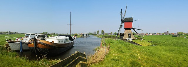 Grosmolen mill lies in the Green Heart in the province of Zuid-Holland
