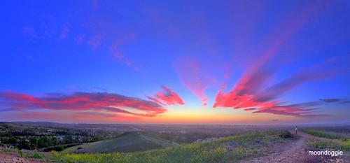 california sunset sky color clouds irvine