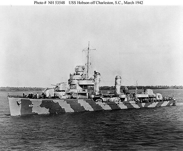 jis USS Hobson off Charleston