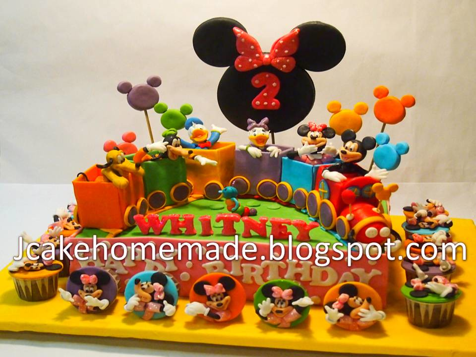 Incredible Mickey Mouse Clubhouse Cake Happy 2Nd Birthday Whitney Th Flickr Personalised Birthday Cards Xaembasilily Jamesorg