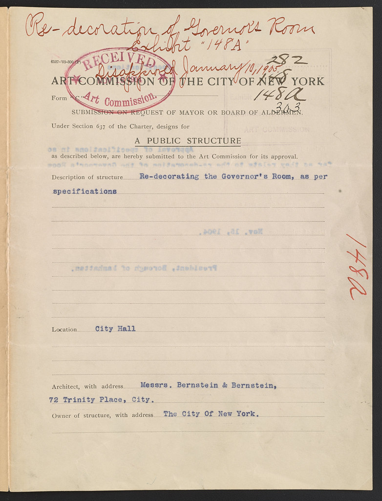 Governor's Room, architects Bernstein & Bernstein, applica