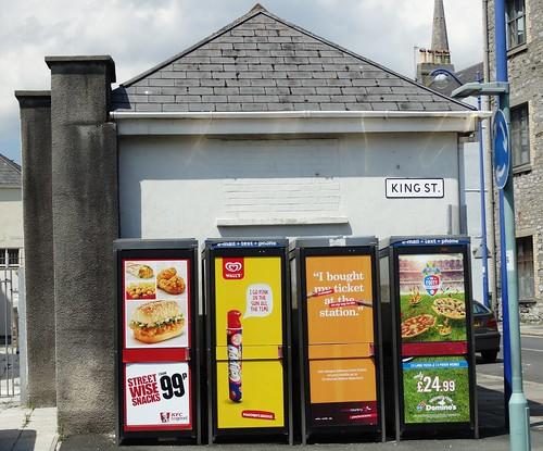 Plymouth ... phonebox advertising.   by bazzadarambler