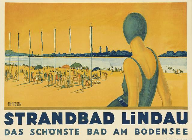 Beach Lindau, Bodensee  (c.1930)