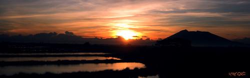 sctex arayat sunrise silhouette mountain