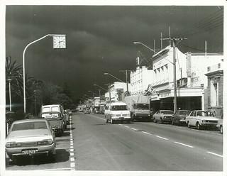 Wairoa township before a storm