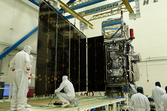 GOES-S Solar Array Deployment