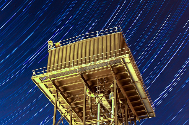 45 Minute Water Tower Star Trails (Cropped) 02/04/17