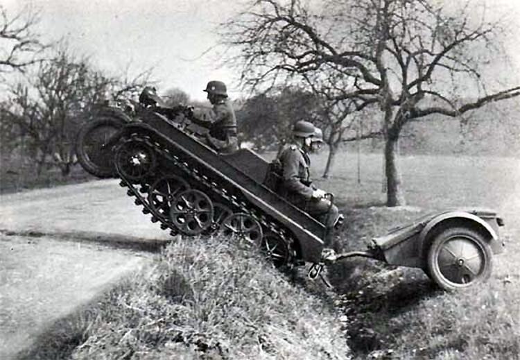 WWII Saksa NSU KETTENKRAD