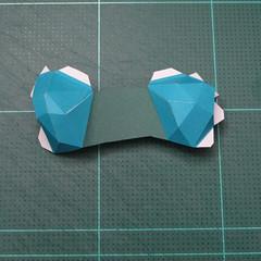วิธีทำโมเดลกระดาษตุ้กตาคุกกี้รัน คุกกี้รสสตอเบอรี่ (LINE Cookie Run Strawberry Cookie Papercraft Model) 019