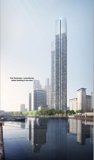 Foster submits Isle of Dogs super-tall tower at South Quay DLR