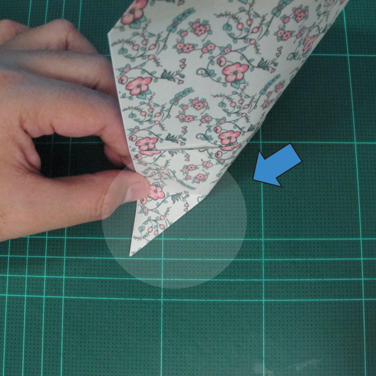 วิธีพับกระดาษรูปหัวใจคู่ (Origami Double Heart)  011