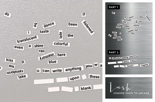 Word Magnets (comes w/white colored mini-polar fridge)