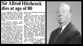 29th April 1980 - Death of Alfred Hitchcock   by Bradford Timeline