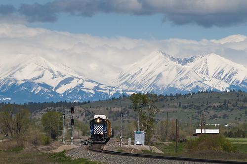 railroad snow train montana unitedstates bigsky mrl 392 crazymountains sd45 emd greycliff sd402xr mrl382 mspolau