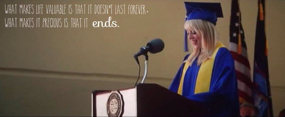 gwens graduation speech in spider man 2