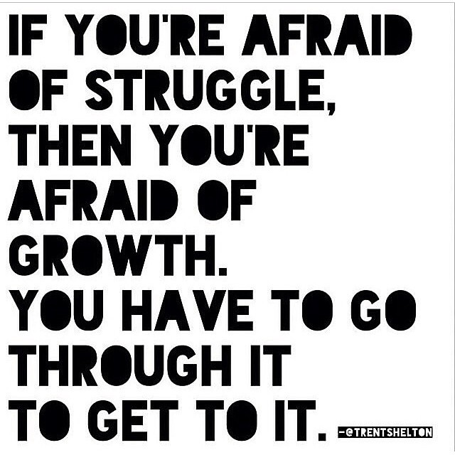 Without struggles is no growth!!! #goodmorning #GodIsGood