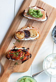 Grilled Crostini 3 Ways | by Smells Like Home