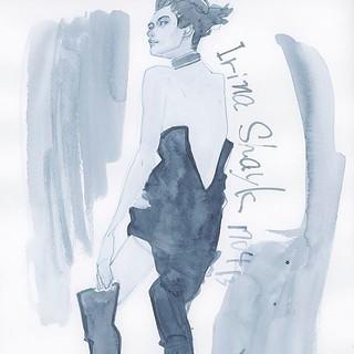 Drawing no.170413-02 @irinashayk #IrinaShayk #illustration #illustrator #drawing #fashion #fashionillustrationsketch #fashionista #fashionillustrations #fashionillustrator #Japan #tokyoillustrator #beauty #beautyillustration #fashionsketch #sketch #art | by loopool