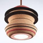#studioavni による #コルク と #ゴム と #銅 で制作された #照明器具 #デザイン #照明 #家具