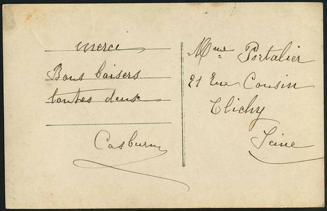 Archiv B020 Bonne Année Karte, back, 1914