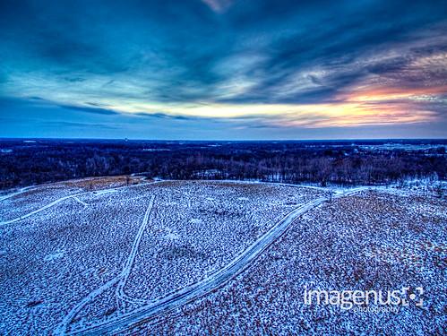 dayton elmcreekparkpreserve landscape minnesota aerial dji drone phantom uav osseo unitedstates us dronephotography sunset clouds snow outdoor hdr park winter newyear