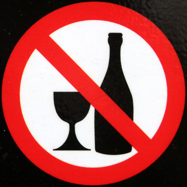 No alcohol to be consumed in this garden