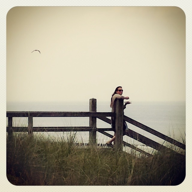 'Pommes am Meer...' - #domburg #thenetherlands #schildersweek #sea #frenchfries #woman #beach