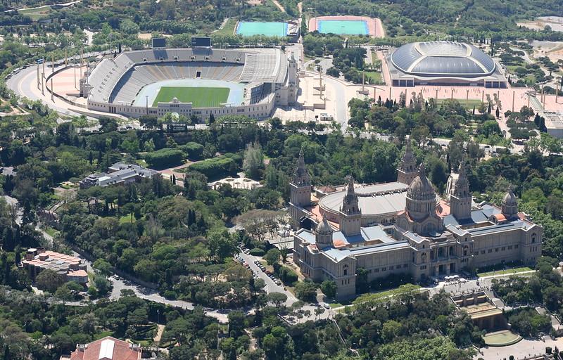 Palau Nacional, Palau Sant Jordi, Palauet Albéniz & Estadi Olímpic de Montjuic.