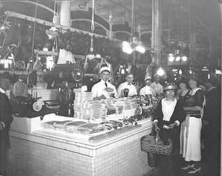 Photograph of an Attractive Display of Cured Meats in Center Market, 10/1922