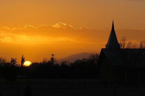 sunset newmexico roswell aliens moonrise nm ufos ovni