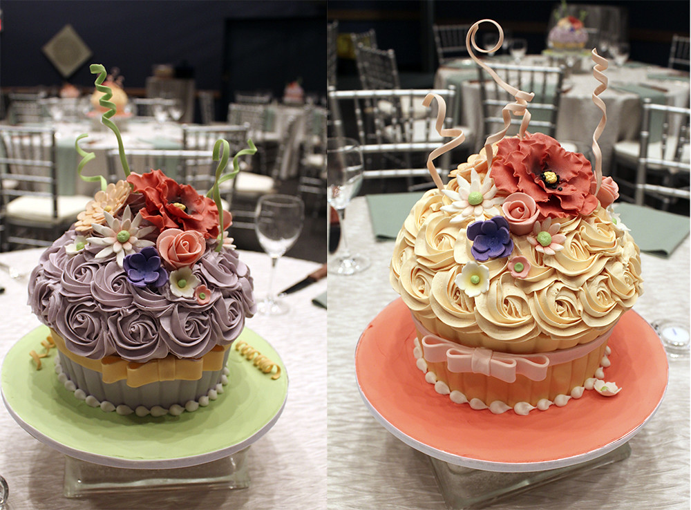 Enjoyable Oversized Cupcake Wedding Cake Centerpieces Buttercream We Home Interior And Landscaping Ologienasavecom