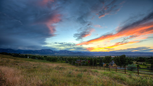 sunset colorado hiking boulder louisville