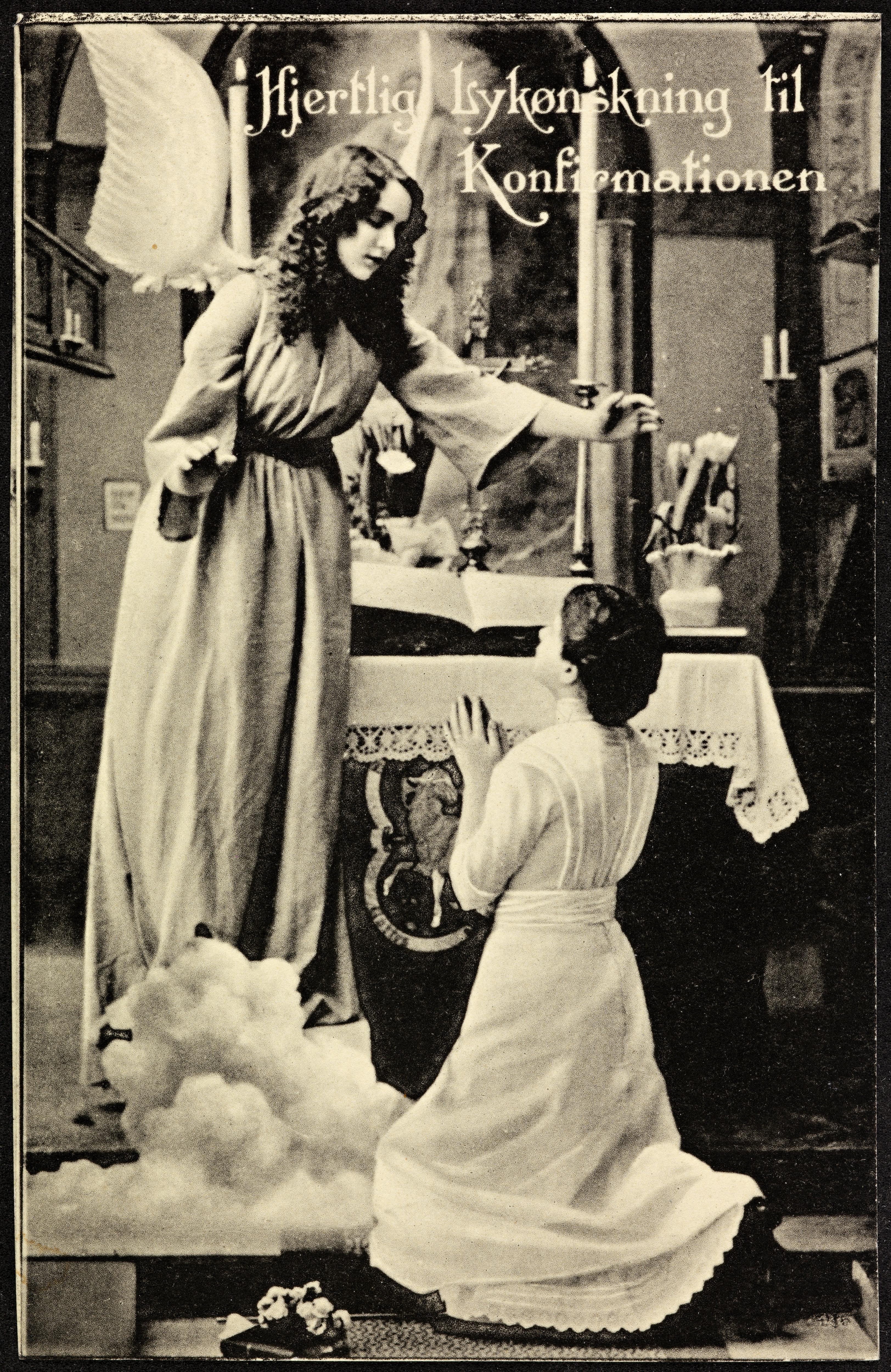 Hjertlig Lykønskning til Konfirmationen, ca. 1914