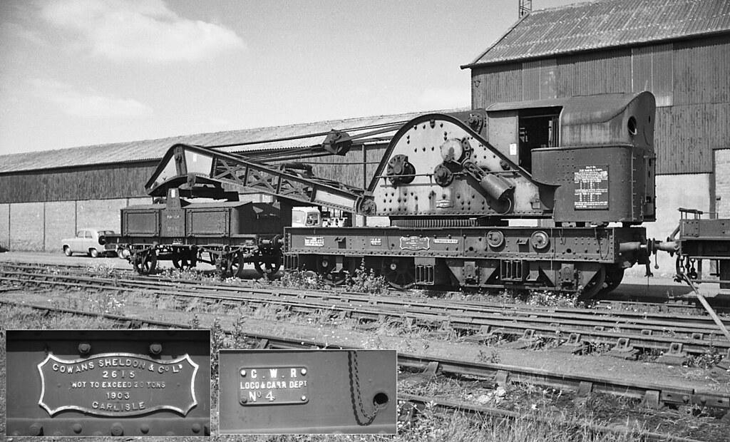 Cowans Sheldon Steam Crane, Cashmores Newport c1965